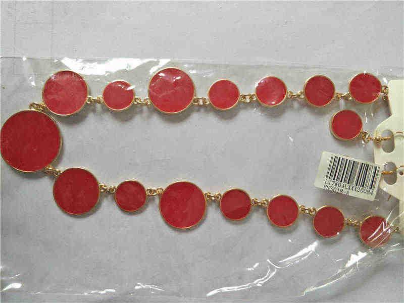 אדום שחור שני-צבע שרשרת זהב דיסק נשי ניגריה אפריקה חרוז תכשיטי סט שרשרת סט תכשיטי סטים