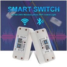 Controle de luz universal de led, bluetooth, wifi, abs, sala de estar, suprimentos para casa, app, interruptor inteligente, conveniente, desliga e liga