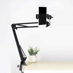 Image 3 - Светодиодный светильник, заполняющая лампа, софтбокс с отражателем, Настольная подвеска, кронштейн для телефона, видеосъемка в реальном времени, стол для фотостудии