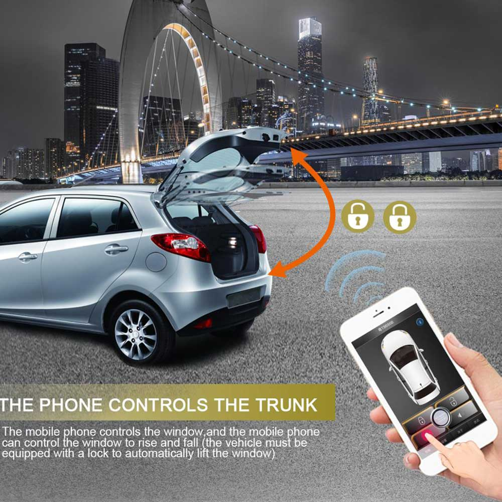 Smartphone Car Alarm System Compatible With Ios And Android Phone Car Engine Start Stop System Remote Smart Key