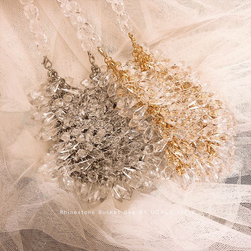 Fashion Brand Hand-woven Pearl Bags Lady Beaded Shoulder Bag Women Party Vintage Handbag Ins Small Bag Mini Cross Body Bag
