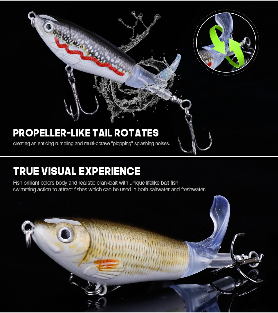VTAVTA 5pcsLot 14g 8cm Floating Wobblers Pike Fishing Lure Set Pencil Hard Bait Artificial Whopper Popper Fishing Tackle Lures 012