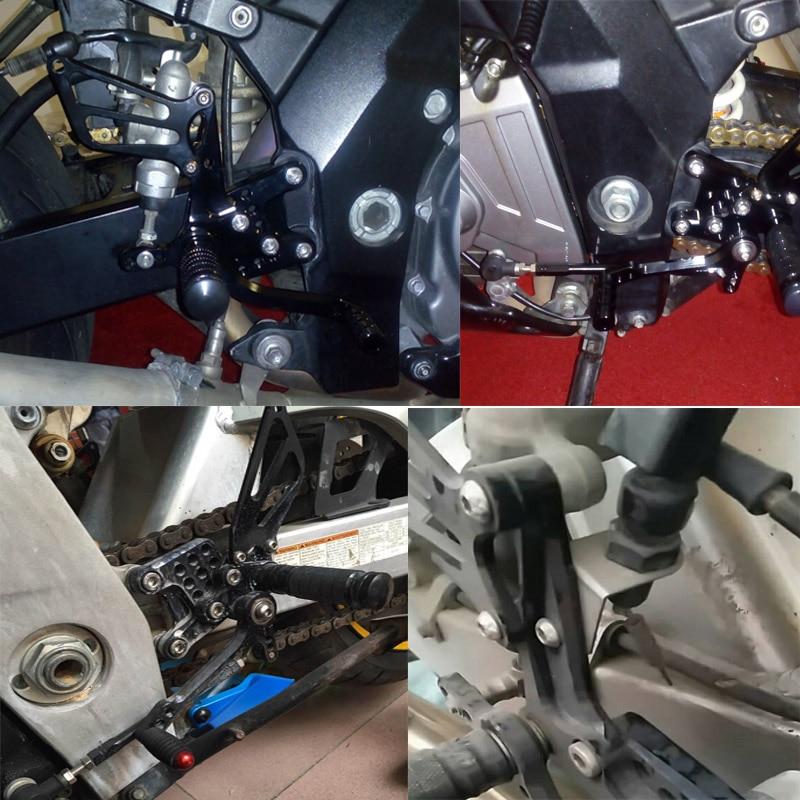 For Suzuki SV650 SV650S SV1000 SV1000S 1998-2014 Rearset Footrest Footpegs Pegs