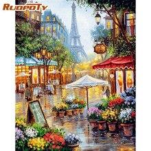 RUOPOTY – peinture sur toile par numéros 40x50, peint à la main, tableau d'art mural pour salon, cadeau Unique, peinture à la main