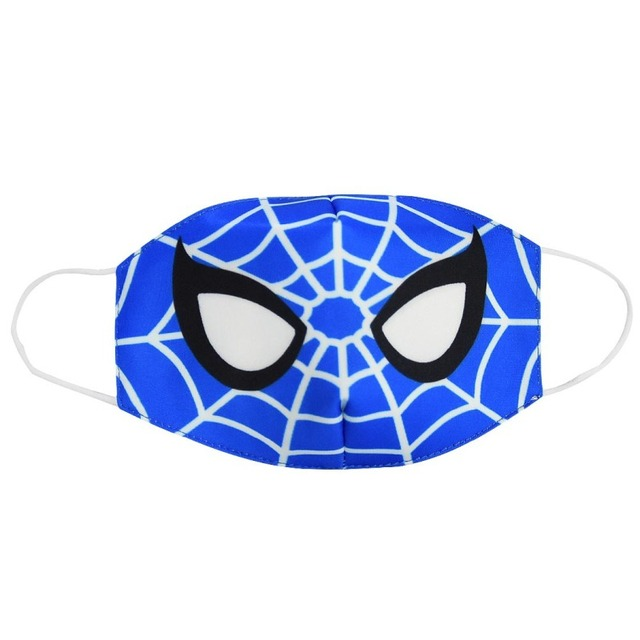 2020 Spiderman Stop Air Pollution Home Cartoon Lovely Cotton Masks Keep Warm Mouth Respirator Kids Adult 2