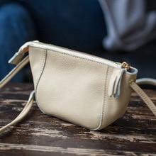 Casual Mini Crossbody Bags Women Small Genuine Leather Shoulder Messenger Bags For Girls Hobos Zipper Bolsas Ladies Phone Purse