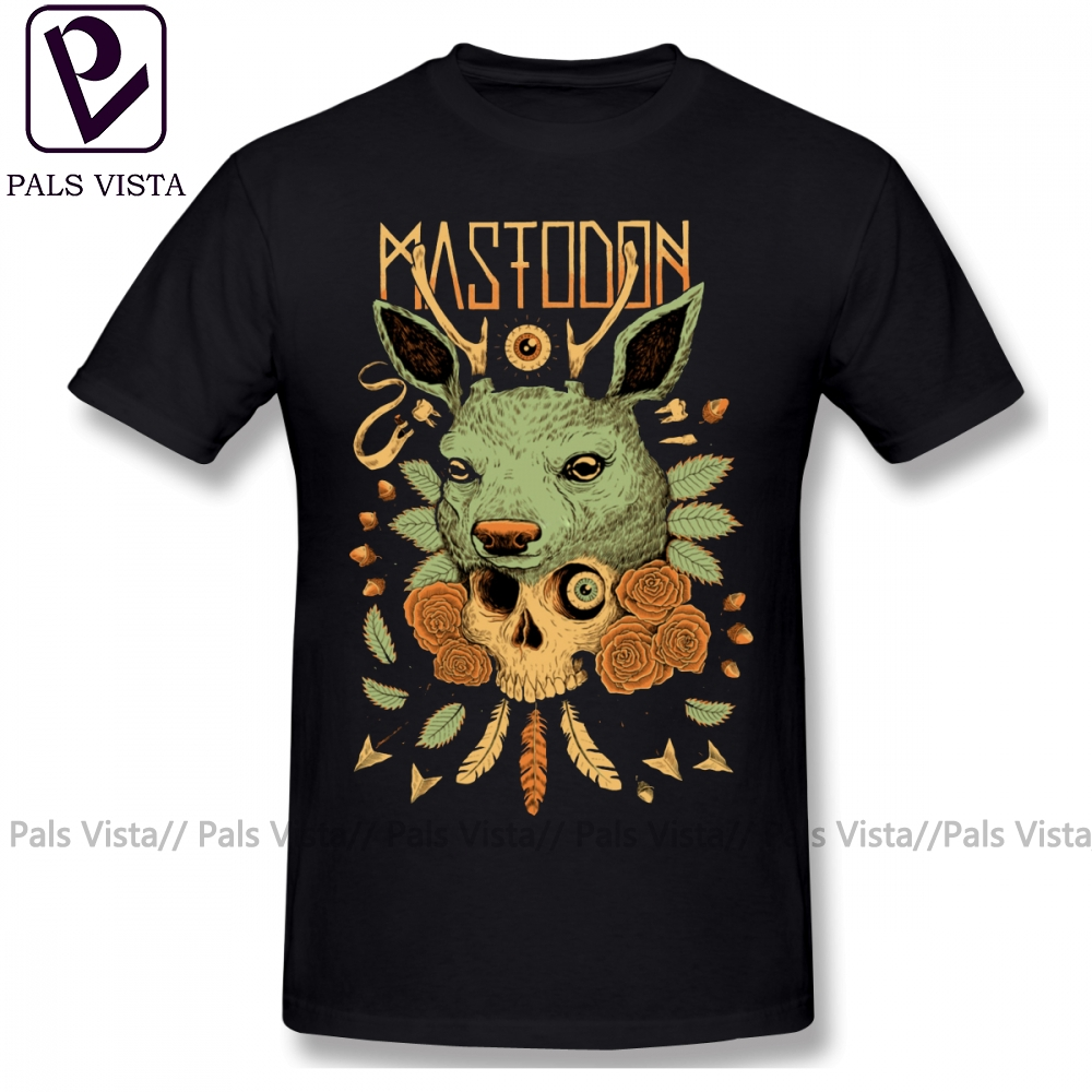 Mastodon T Shirt MASTODON LOGO 2018 Cancan 1 T-Shirt Casual Print Tee Shirt Short Sleeves Oversize Male 100 Cotton Tshirt