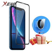 9D Glass For iPhone XR Front Protective Glass Lens Screen Protector Tempered Glass For iPhone xr Back Camera Lens Film Free Gift glossy matte lcd screen front back protector w cleaning cloth for iphone 4 4s transparent