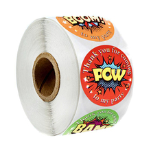 500 pcs/roll handmade sticker round Polish language explosion stickers for envelopes and wine glasses decorating