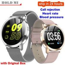 CF18 1,22 дюймов Смарт часы водонепроницаемые IP67 кровяное давление монитор сердечного ритма металлический Старп мульти спортивные режимы Смарт часы для женщин