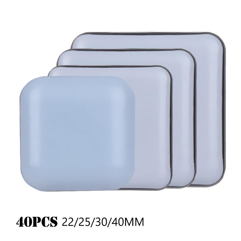 40Pcs Square Heavy Thickening Furniture Leg Slider Pads Anti-slip Pads Floor Mat Floor Protector Ant