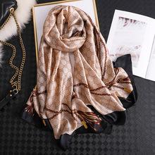 2020 Luxury Brand New Summer Women Silk Scarf Beach Hijab Shawls and Wraps Female Foulard Echarpe Designer Bandana Free shipping cheap RUNMEIFA Adult Print Fashion 175cm Scarves PS04 40g 100g 90*90 90*180CM fashion stylish DIY all seasons