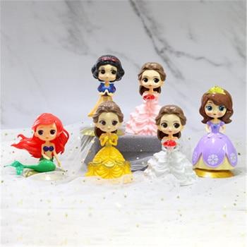 Disney 9 styles Q Posket Frozen Queen Elsa & Anna figure Toys Dolls Aurore PVC Anime Dolls Figures Collectible Model Kids Toys недорого