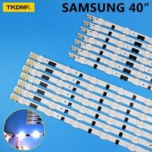 14pcs x LED Backlight Strip for SamSung 40TV D2GE-400SCA-R3 D2GE-400SCB-R3 UA40F5500 2013SVS40F UE40F6400/6300 UE40F5000/5700