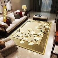 Nowoczesne  minimalistyczne nowy chiński styl dywan do salonu sypialnia stolik mata termiczna transfer dywan dywany dla dzieci pokoje w Dywany od Dom i ogród na