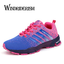 Купить с кэшбэком WINDRIDERISM Flyknit Women Sneakers Lightweight Breathable Plus Size 47 Men Running Shoes Unisex Casual Shoes Zapatillas Mujer