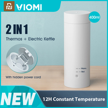 VIOMI Electric Thermos Bottle Cup Portable Bottle Stainless Steel Heating Thermal Mug for Tea Coffee Travel Kettle 400ml