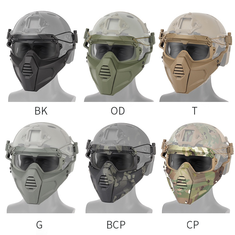 Motorcycle Goggle Mask Tactical Paintball Glasses With Detachable Skiing Mask For Airsoft Cycling Halloween Mask