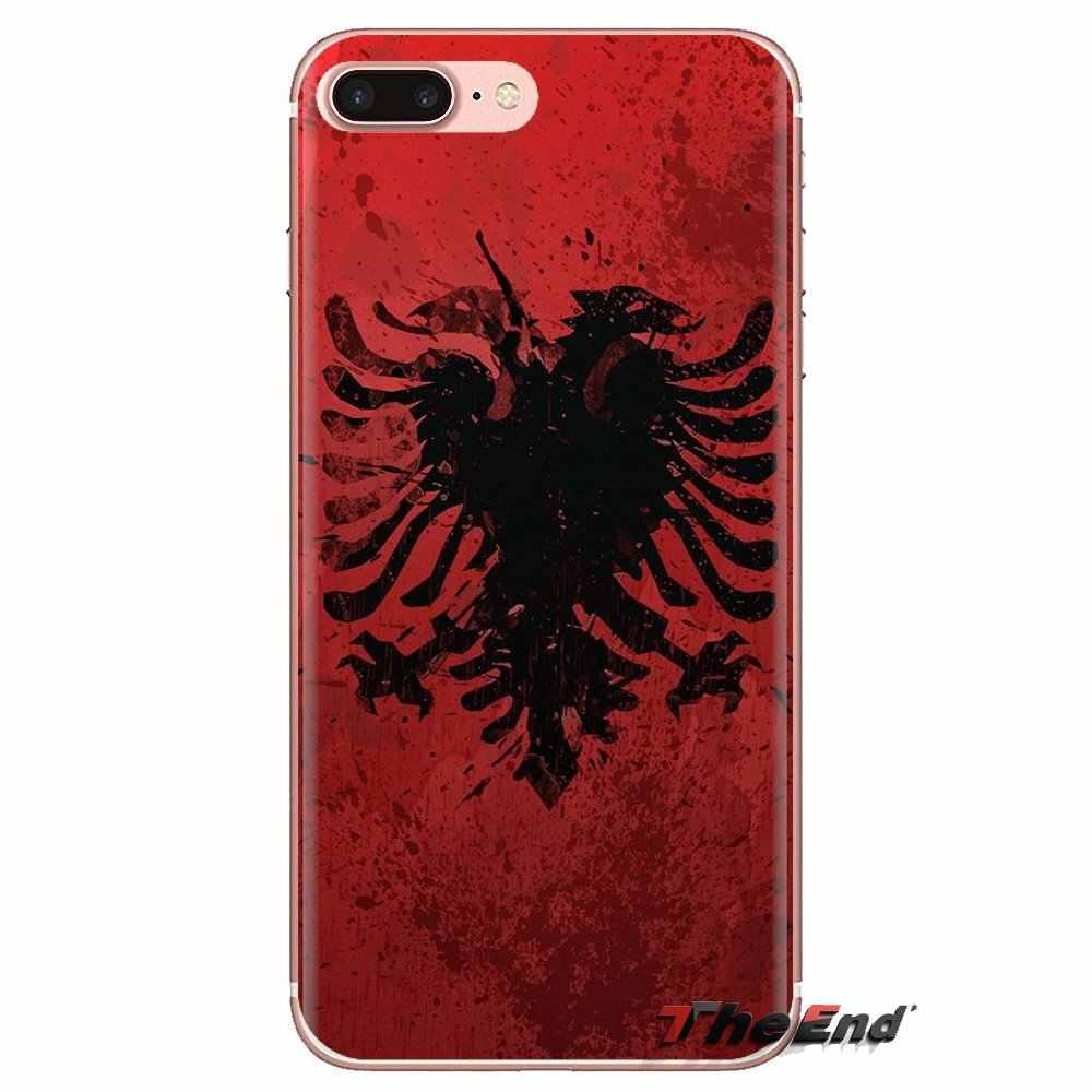 Cubierta del teléfono de la Bolsa Nacional Albanés emblema de bandera para HTC U11 una M7 M8 A9 M9 M10 E9 Desire 630 de 530 626, 628, 816, 820G Motorola G2 G3