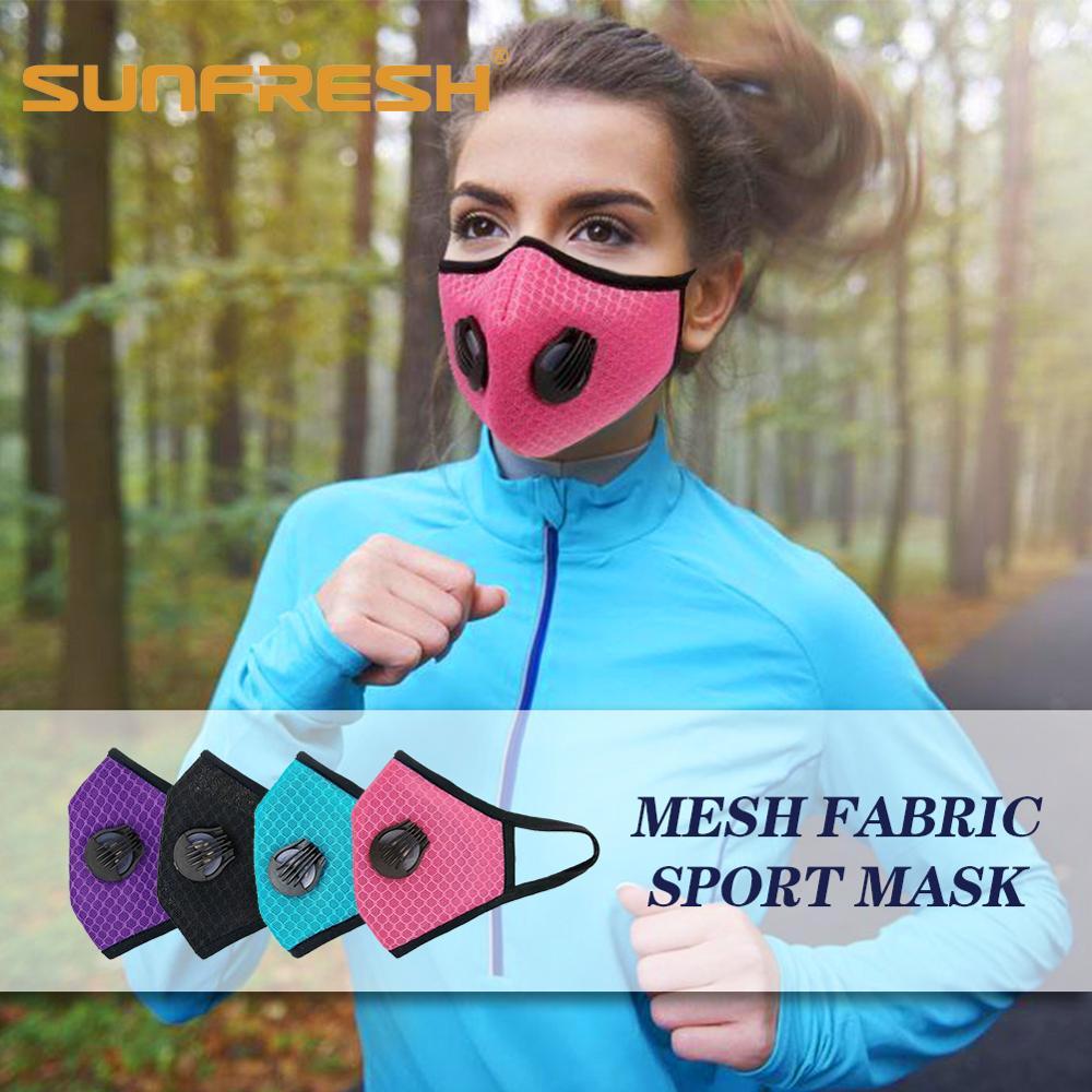 Anti-smog Sports Running Mask Printed Anti-dust Cotton Dual Valve PM 2.5  Anti-cold Anti-pollen Anti-influenza Virus Mask