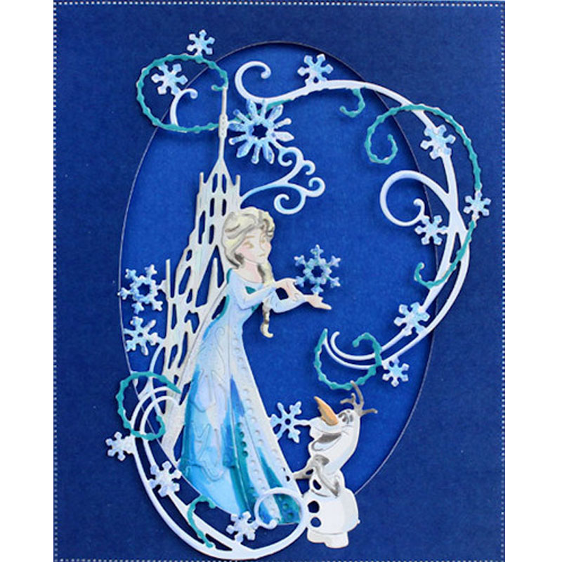 2pcs/set Princess Animal Ice World Snowman Metal Cutting Dies Stencil For Scrapbooking Paper Cards Craft New Dies