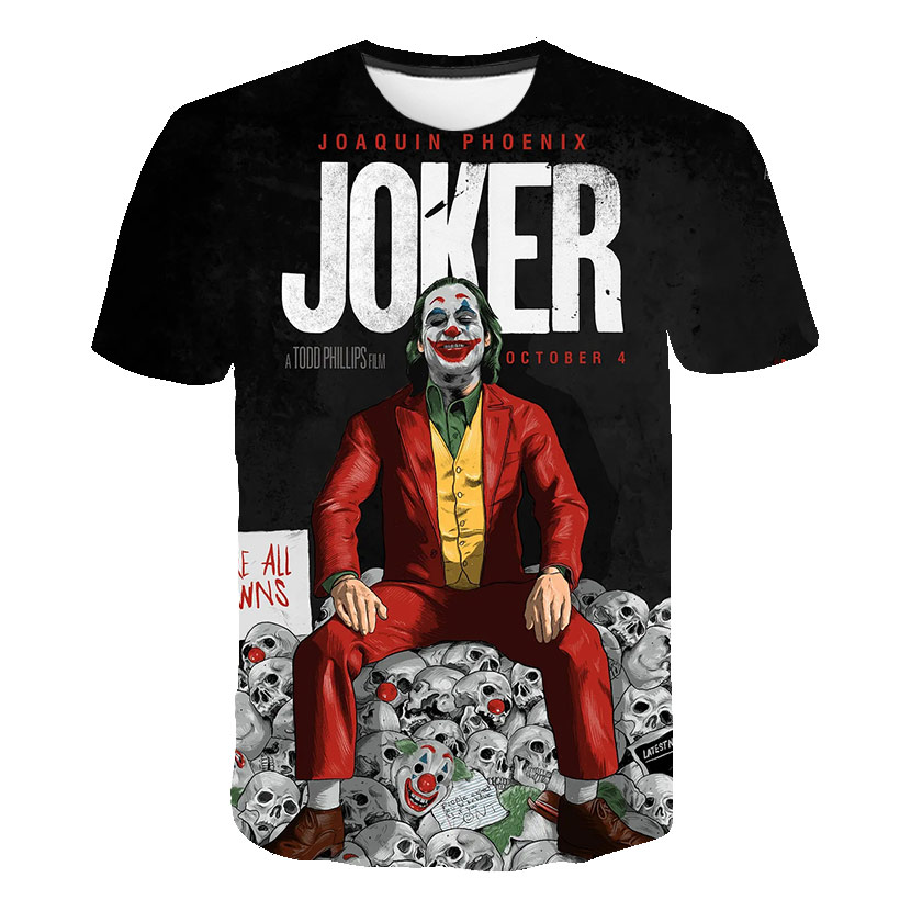 Cloudstyle Novelty 3D Tshirt Men Joker Why So Serious 3D Full Print Harajuku Streetwear Fashion Tees Shirt Tops Plus XXS-6XL