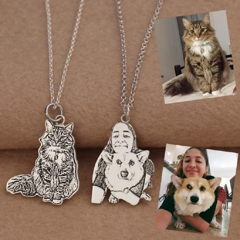 Pet-Photo-Necklace-Picture-Necklace-Personalized-Cat-Necklace-Custom-Dog-Necklace-Pet-Memorial-Gift-Pet-Lover