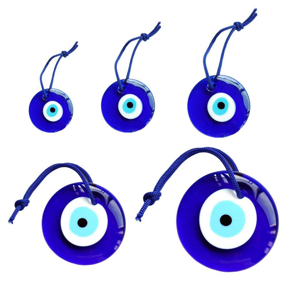 Blue Glass Evil Eye Amulet Trendy Hanging Charms Car Office Wall Decoration Decor 7cm