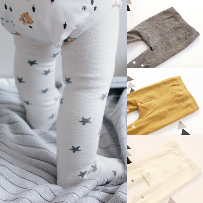 Girls Tights Fashion Star Pattern Children Autumn Winter Tights Cotton Baby Girls Pantyhose Infant Knitted Pantyhose Stockings