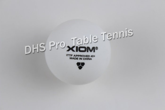 ORIGINAL High Quality XIOM 3 Star 40+ POLY Seamless Ball Table Tennis Ball / Ping Pong Ball 6pcs/pack