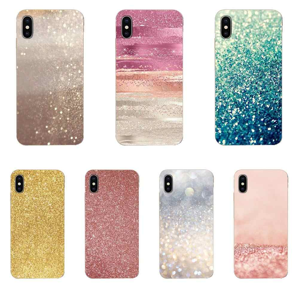 Rose Gold Glitter For Xiaomi CC9 CC9E Mi 3 4 4i 5 5S 6 6X 8 9 SE Play Plus Pro Lite A1 Mix 2 Note 3 Soft TPU Coque Case