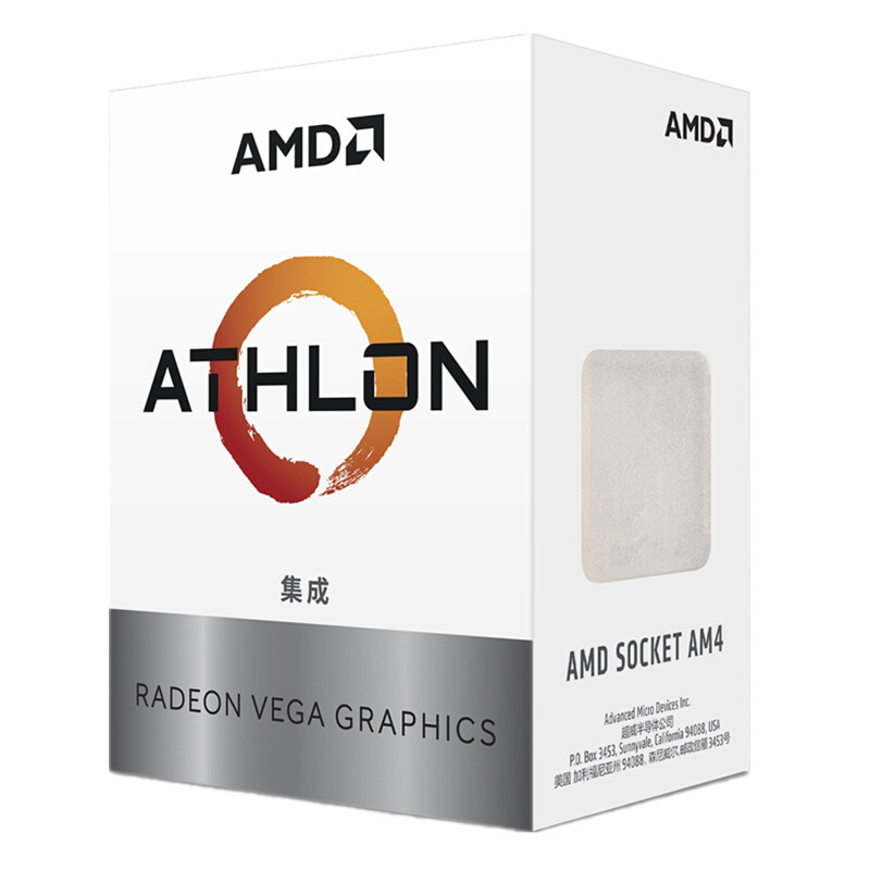 AMD Athlon 200GE Scattered Pieces CPU Dual Core Four-wire Desktop PC Processer AM4 Integrated Core Graphics Card Apu