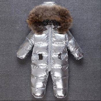 Winter childen down jackets thicker warm hooded baby outerwear Kids Windproof ski suit jumpsuit modis down jackets Y2378