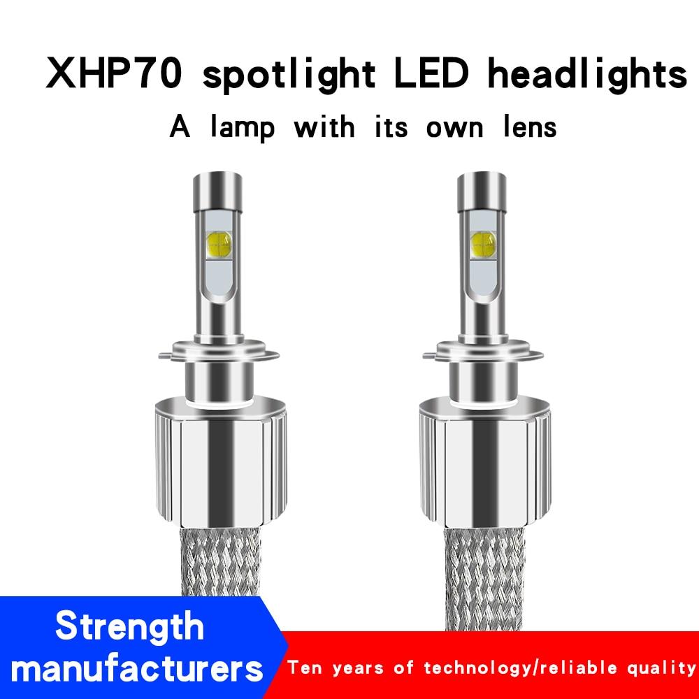 2PCS Car LED Headlight H11 Kit xhp70 LED 6000K 116W 13800LM LED H4 H7 H8 H9 HB3 9005 HB4 HIR2 9004/7 H13 car styling fog lamps