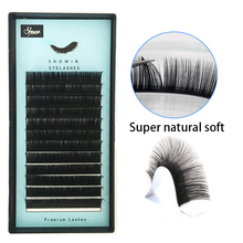 Eyelashes Mink Lashes Faux mink individual eyelash lashes maquiagem cilios for professionals soft mink eyelash extension genie shadow lashes individual lashes double curl and length faux mink fit for volume eyelash extension make up eye lashes