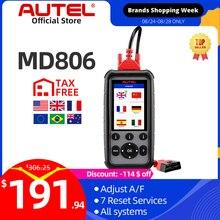 Autel Maxidiag MD806 Eobd Auto 4 System Diagnostic Tool 7 Reset Functie Dpf Obd OBD2 Scanner Code Reader Pk MD802 MD808 CRP129