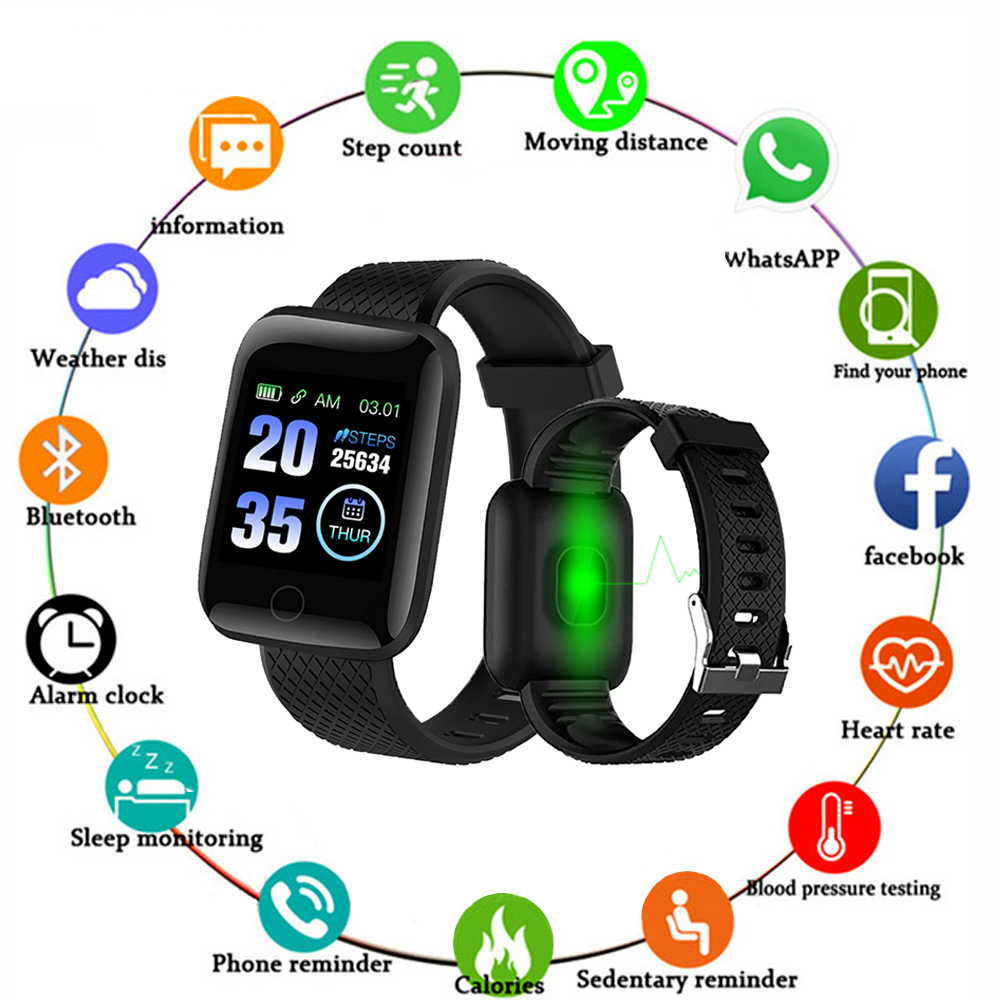 D13 Smart Watches Smart Wristband Heart Rate Watch Men Women Sports Watches Smart Band Waterproof 116plus Smartwatch
