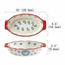 Plats de cuisson rectangulaires en céramique avec poignée pour four, plat de cuisson individuel en céramique pour lasagnes