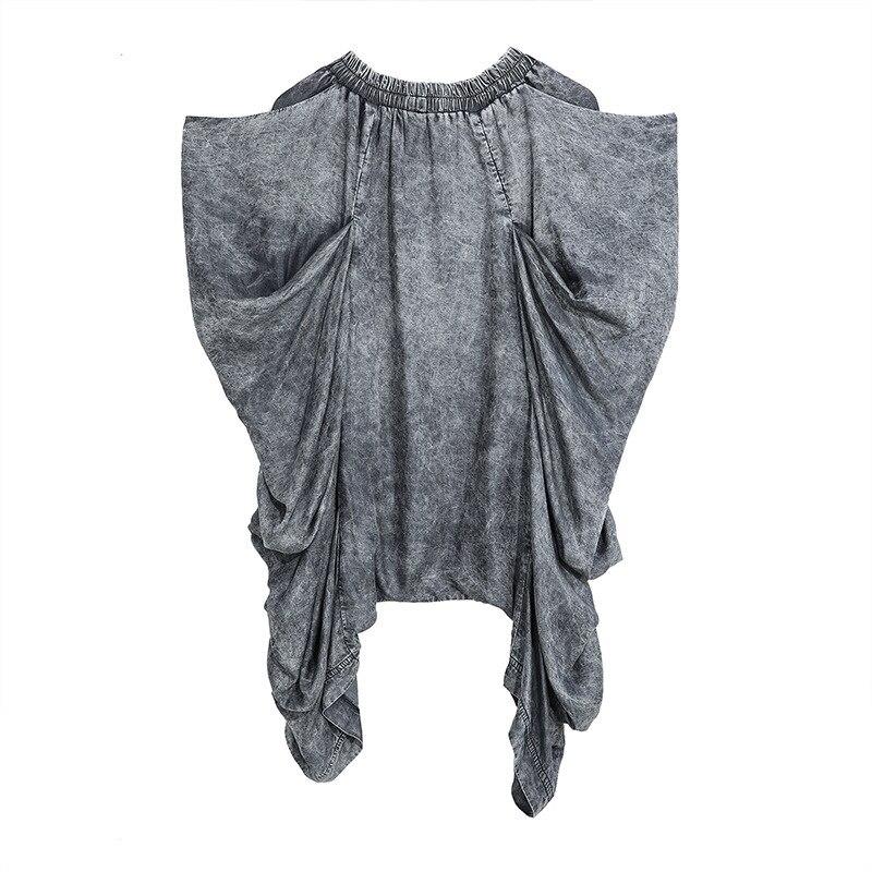 LANMREM Streetwear Toursers For Women Tide Washing Vintage Irregular Harem Pants Loose Pleat Pants 2020 Fashion New Cloth YH733