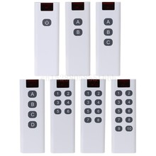 Universal sem fio código de aprendizagem digital controlador remoto transmissor 1/2/3/4/6/8/10 canais botões teclado AK-7010TX