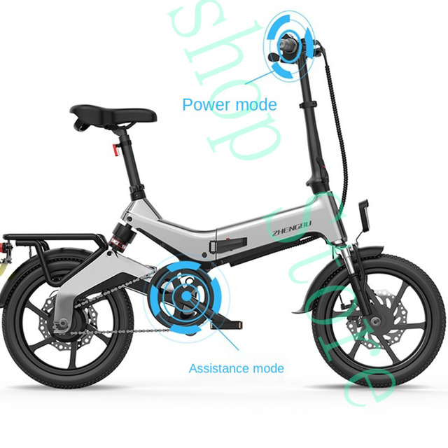 """Litowo-calowy nowy składany rower elektryczny mały akumulator Zhengbu rower elektryczny rower 16 tanie tanio wind fury 36 v 200-250 w CN (pochodzenie) Bateria litowa 16"""" 30 km h Bezszczotkowy Ze stopu aluminium ze stopu aluminium"""
