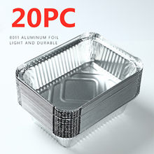 Feuille d'aluminium jetable pour Barbecue, 20 pièces, casseroles en aluminium, poêle à pâtisserie, plateau pratique pour les aliments, récipient à emporter C19