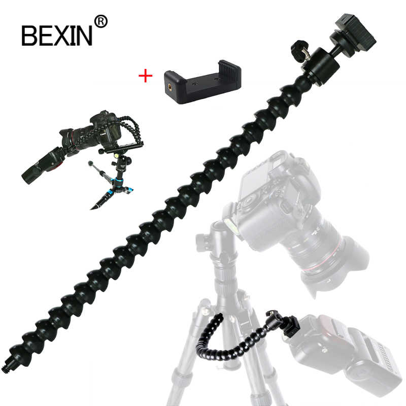 Lengan Fleksibel Braket Ditekuk Flash Lampu Berdiri Kamera DSLR Flash Bracket Adaptor Mount Hot Shoe Flash Holder untuk Flash LED ligh