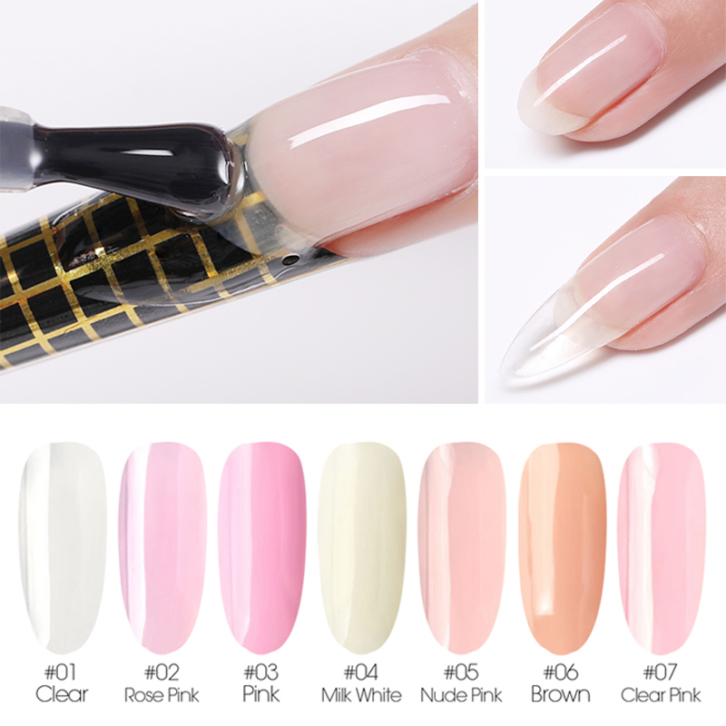 Paraness Acrylic Polygel Extension Builder Gel Nail Tip Form Crystal UV Gel Quick Building For Nails Extensions Clear UV Gel