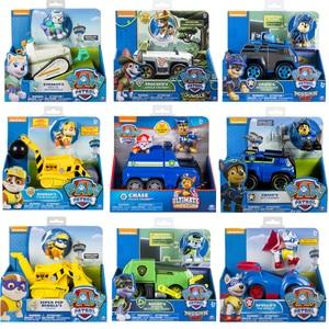 Image 1 - Orijinal Paw devriye oyuncak seti oyuncak araba köpek Everest Apollo izci Ryder Skye kaydırma aksiyon figürü Anime Model oyuncaklar çocuklar için hediye