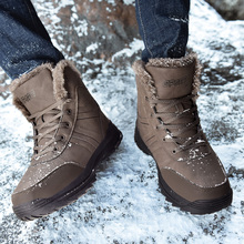 Brand Outdoor Male Hiking Boots 39-48 *s998 Men Winter Snow Warm Super High Quality Waterproof Leather Sneakers
