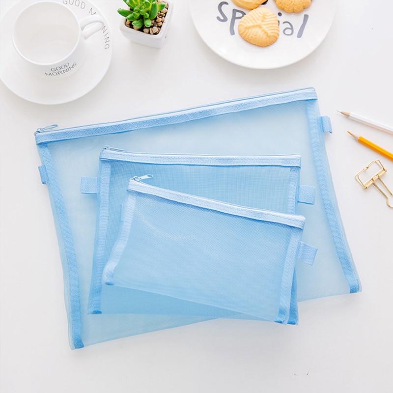 A4 4pcs/set Simple File Transparent Sweet Animal Pocket PP Bag Hand Carry Stuff Bag Folder Portfolio School Stationeries Support