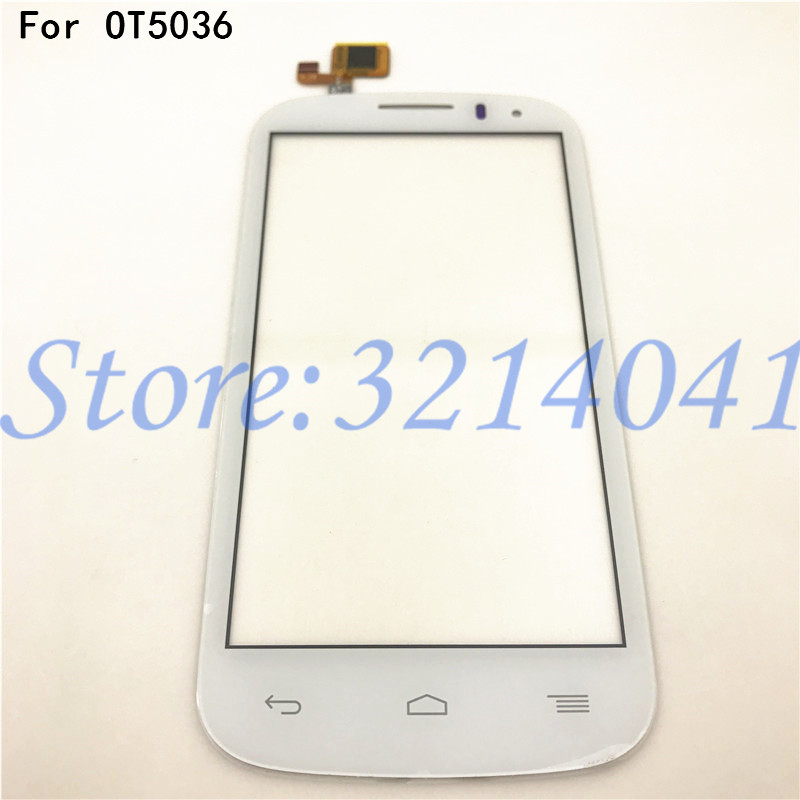 Top Quality 100% Tested For <font><b>Alcatel</b></font> One Touch C5 5036 touchscreen OT 5036 <font><b>5036D</b></font> 5037E ot5036 glass outter Panel Front digitizer image