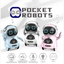 Pocket AI Robot Interactive Dialogue Voice Recognition Mini Robot Kds Singing Dancing Telling Story Company RC Robot Child Gift