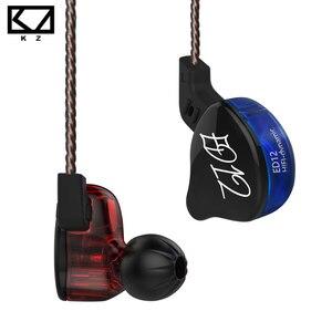 Image 1 - Kz ED12 1DDイヤホン重低音ケーブル制御小麦音楽携帯電話のヘッドセット発熱ハイファイイヤホンZS5 ZS6 ES4 ES3 zstx zsnプロ